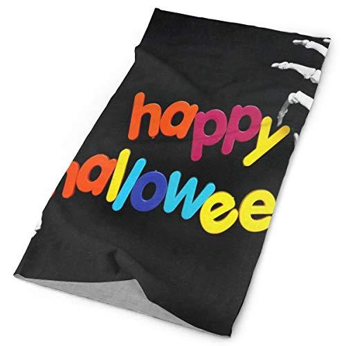 Headbands Rainbow Colorful Happy Halloween Skeleton Stretchable Magic Scarf Yoga Workout Athletic Travel Sport -
