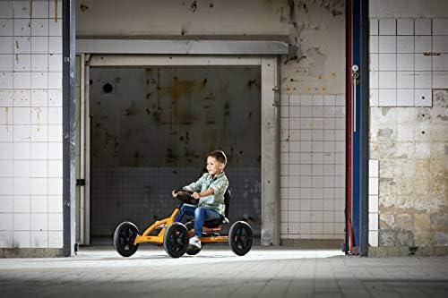 Berg Pedal Gokart Buddy B-Orange   Kinderfahrzeug, Tretauto mit Optimale Sicherheid, Luftreifen und Freilauf, Kinderspielzeug geeignet für Kinder im Alter von 3-8 Jahren