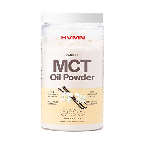 H.V.M.N. MCT Oil Powder - Keto Creamer Powder, for Keto Coffee Creamer, Keto Shake - Pure C8 MCT Oil from Acacia Fiber Powder, MCT Oil Keto Diet Powder - 25 Servings (Vanilla)