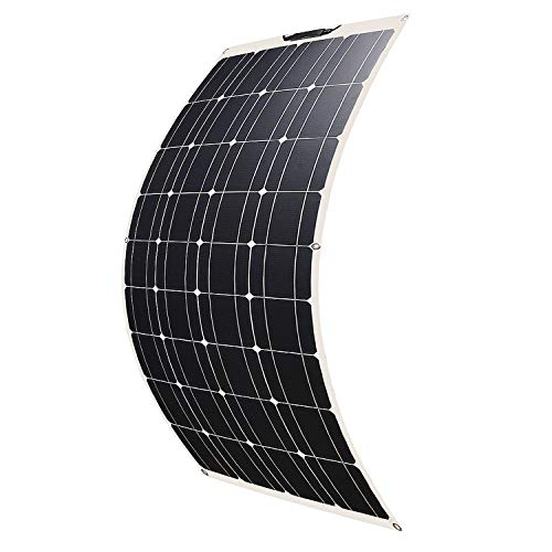 SARONIC 100W 18V 12V ETFE Flexibles Solarmodul Monokristallin Solarpanel Ladegerät Outdoor mit MC4 Ladekabel für Wohnmobil, Auto, Boot