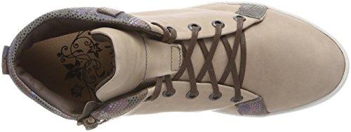 Think Seas_282977, Sneaker a Collo Alto Donna Beige (Macchiato/Kombi 25)