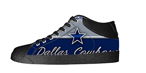 RenBen Non-slip plimsolls Custom Dallas Cowboy Men's Canvas Shoes Footwear Sneakers Flat Shoes (Dallas Cowboys Shorts)