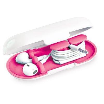 PARIS BUSINESS PRODUCTS Dotz Hardshell Earbud Case, Pink (EBC38MCPK) by Paris Business