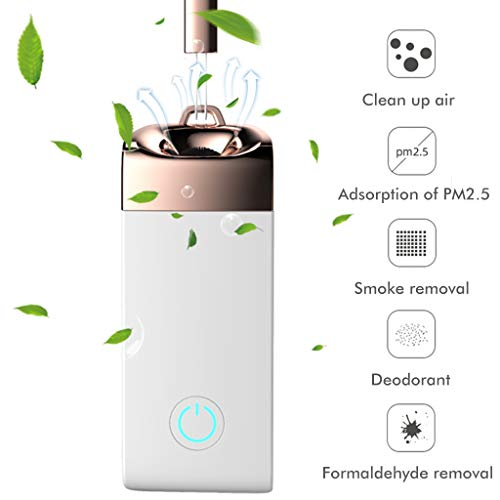 Mini Portable Air Purifier Personal Travel, 36.5 Million Negative Ion Purifier, Necklace Wearable for Both Kids and Adults, Home Mini USB Charging Air Purifier, Eliminates Smoke Smell, Odors, Dust