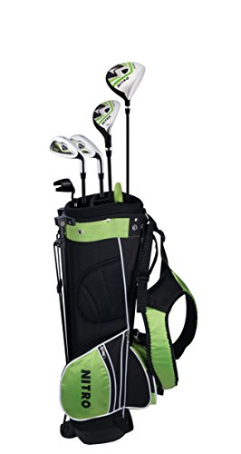 Junior Right-Handed Kid's 8 Piece Golf Club Set - Nitro Golf Junior Crossfire 8 Piece Complete Set with Bag and covers 9-12  years