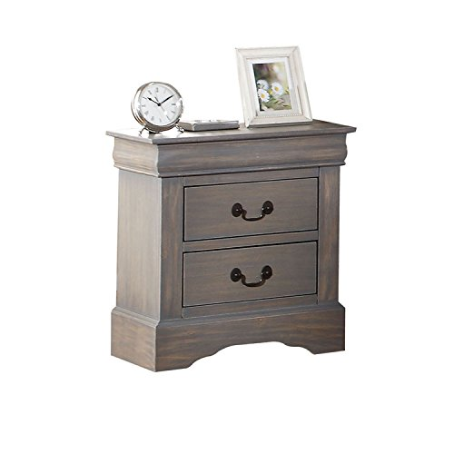 ACME Furniture Louis Philippe III 25503 Nightstand, Antique Gray by Acme Furniture