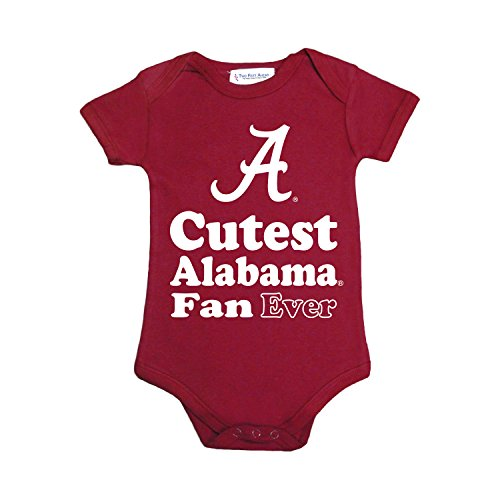 Alabama Baby Clothes (NCAA Alabama Crimson Tide Children Unisex Lap Shoulder Creeper,6 Mo,Crimson)
