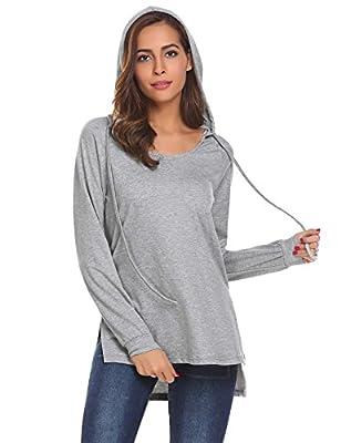 Zeagoo Women's Pullover Hoodie Long Sleeve Casual Loose Sweatshirt Top Plus Size