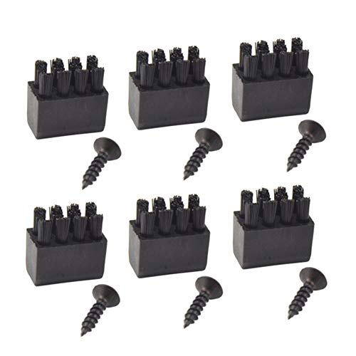 JooFn Arrow Rest Replacement Brushes 6pcs with 6pcs Screws for Hostage Arrow Rest Archery Bow