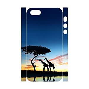Africa Custom 3D Case for Iphone 5,5S, 3D Personalized Africa Case
