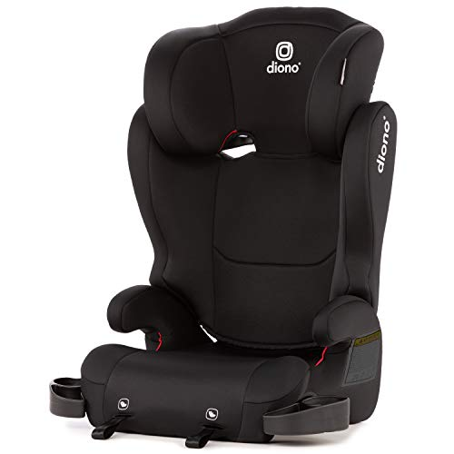 Diono Cambria 2 High Back and Backless Booster Seat, 18 - 54 kg (40 - 120 lbs), Black
