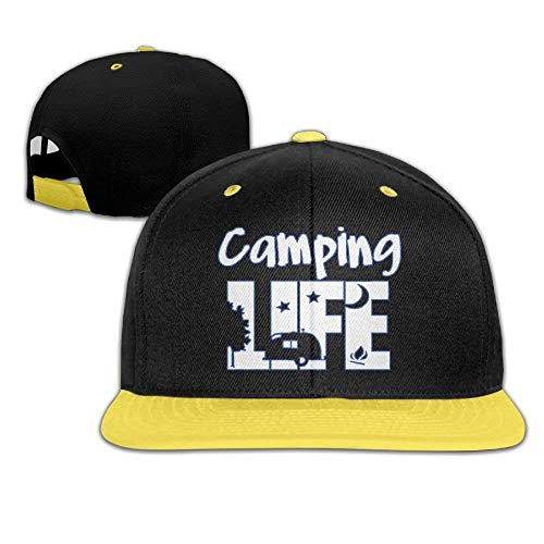 Camping Life Night Text Vector Custom Newest Snapback Hip Hop Caps for Boys 7cacf8d41913