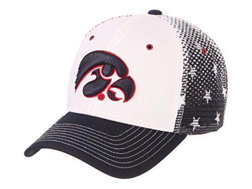 - Iowa Hawkeyes Zephyr Spangled Mesh Back Structured Adj. Snapback Hat Cap