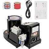 Mug Transfer Sublimation Heat Press, Professional Pneumatic Auto Mug Cup Heat Press Machine ST-110 Sublimation Transfer Printing Machine for Advertising, Gift Purpose(110V US Plug)