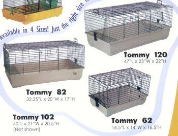 TOMMY72 GP/RBT CAGE SML GRN, My Pet Supplies