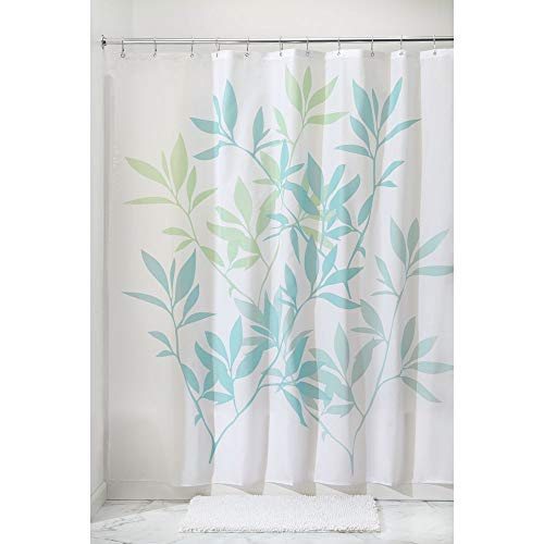InterDesign 35650 Leaves Fabric Shower Curtain - Standard, 72