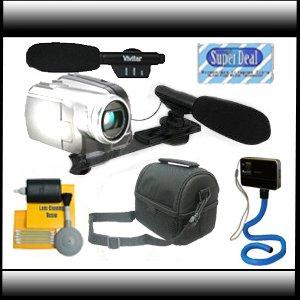 Vivitar Super Sound Mini Zoom Camcorder Directional Video Shotgun Microphone w/Mount Plus Superdeal Exclusive Accesory Bundle