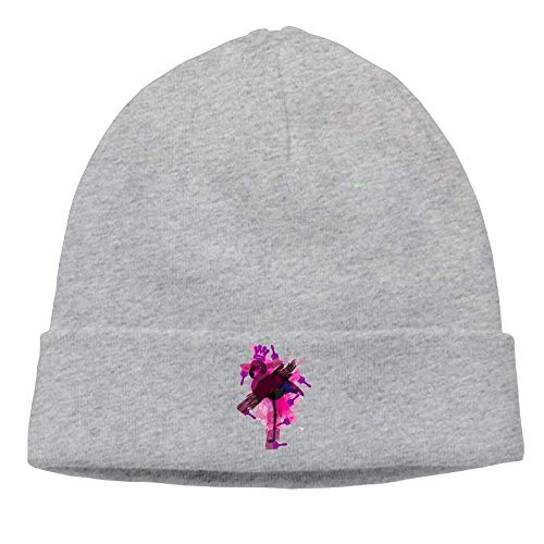 J.Lambert Knit Hat Men Unisex Soft Cotton Flamingo Pink Doodle ()