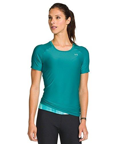 Under Armour Women's UA HeatGear® Armour Short Sleeve Medium AQUEDUCT