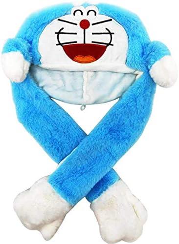 d1HhgJ /Éclairage Belle Bande dessin/ée sautant des Oreilles danimaux en Peluche Douce Chapeau de Chapeau de vessie dair Chapeau Doraemon Bleu 60cm