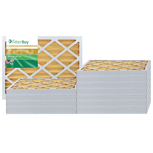 AFB Gold MERV 11 16x25x2 Pleated AC Furnace Air Filter. Pack of 12 Filters. 100% produced in the USA. by FilterBuy