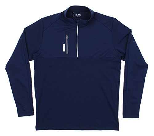 Adidas Men's Performance 1/2 Zip Pullover Sweater, Navy - Pullover Performance Zip Jacket 1/2