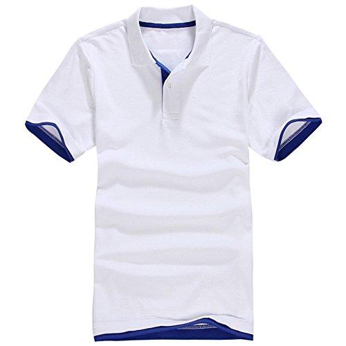 Wodery メンズ ポロシャツ 半袖 トップス Tシャツ polo スリムフィット 無地 ストレッチ スウェット ジャージ 上着 カジュアル スポーツウェア ゴルフウェア