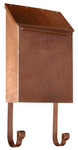(Vertical Wall Mount Mailbox in Hammered Antique Copper)