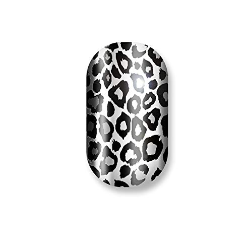 Minx Nails, Wild for The Night Chrome,Cheetah Silver Black Chrome Animal Print, 0.2 Ounce]()