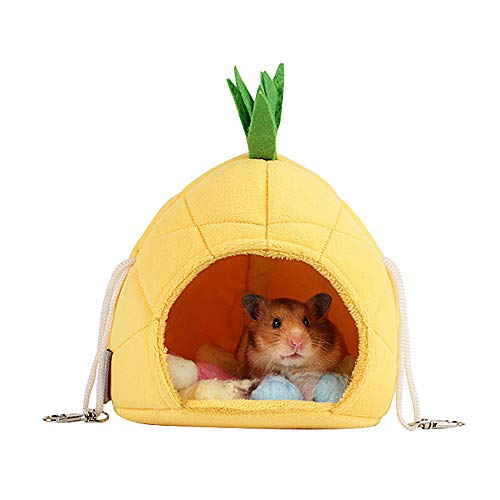 Oncpcare Sugar Glider Cage Accessories Hammock, Hamster Bedding, Rats Hamster House Toys for Small Animals Sugar Glider Squirrel Hamster Rat Playing Sleeping Resting