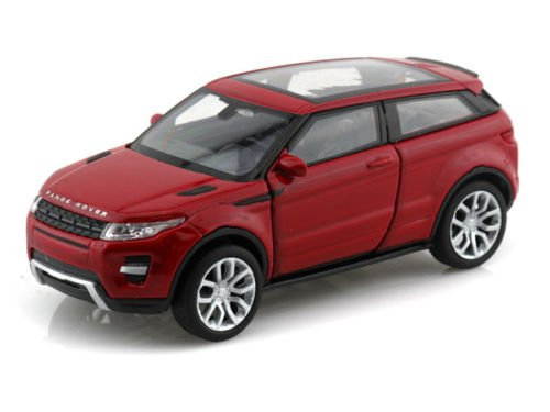 NEW 1:32 DISPLAY WELLY COLLECTION - RED LAND ROVER RANGE ROVER EVOQUE Diecast Model Car By (Red Range Rover)