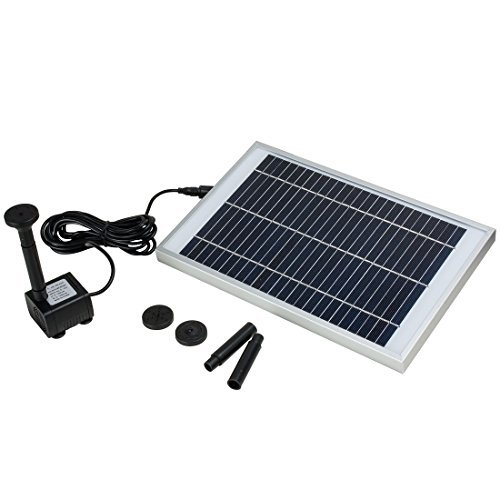 DealMux 5W Outdoor Solar Fountain Pump Waterfall for Pool Garden Pond Bird Bath Decorative Submersible Kit Water Pump