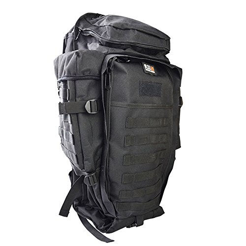 Meiyiu Sports Waterproof Backpack Adult Outdoor Oxford Cloth Package Large Capacity Unisex Multi-Functional Camping Bag Black