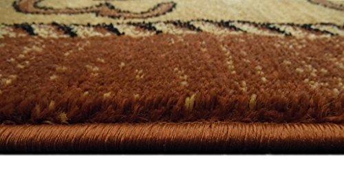 Lodge Western Area Rug Design 370 Brown (3 Feet 10 Inch X 5 Feet 1 Inch)