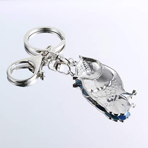Luckeyui Unique Owl Gift Keychains for Women Blue Enamel Cute Animal Keyring by Luckeyui (Image #4)