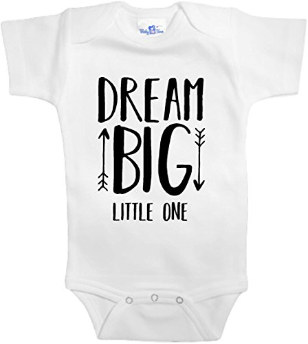 Baby Tee Time Dream big little one AUTHENTIC One piece 0-3 Months White (Replica Piece One)