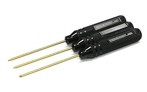 Key Kit Tlr (Integy RC Model Hop-ups C22404BLACK ProGrip Allen Hex Wrench Set (3) Standard Size 0.05, 1/16 & 3/32in.)