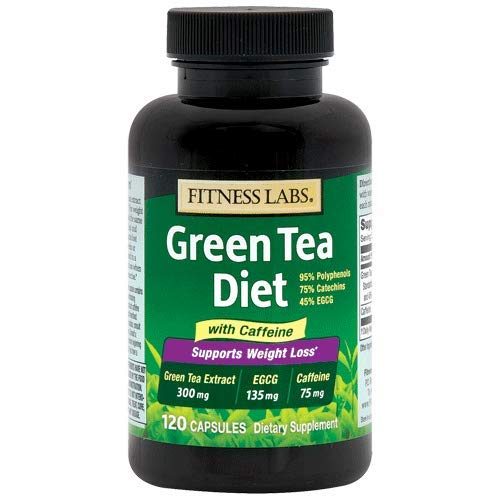 Fitness Labs Green Tea Diet 135mg EGCG, 75mg Caffeine, 120 Capsules ()