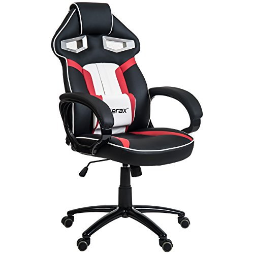 Merax Stylish Devil's Eye Series High-Back PU Leather Gaming Chair (Red) by Merax