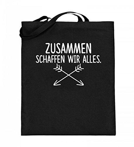 Shirtee 4AE4V1MH_XT003_38cm_42cm_16 - Bolso de tela de algodón para mujer Negro Negro 38cm-42cm Negro