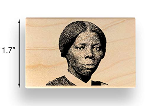 (Harriet Tubman Rubber Stamp - 1-5/8 inch (41mm) Tall - Perfect for Stamping Over Andrew Jackson on Twenty Dollar)