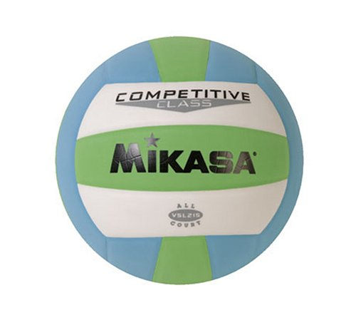 Mikasa Competitive Class Volleyball (Green/White/Blue)
