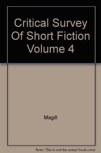0893562149 - Magill: Critical Survey Of Short Fiction Volume 4 - Libro