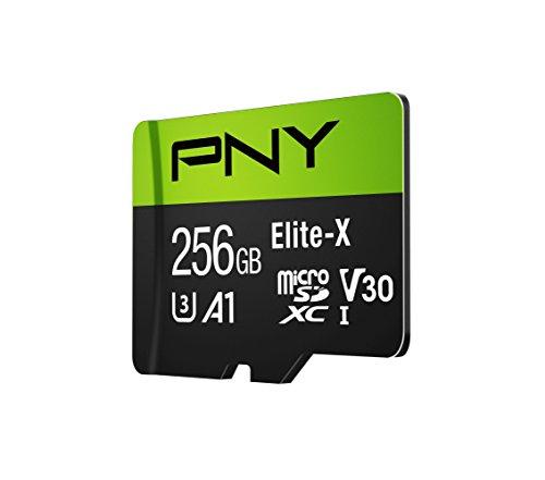 PNY Elite-X microSD 256GB, U3, V30, A1, Class 10, up to 100MB/s – P-SDU256U3100EX-GE by PNY (Image #2)'