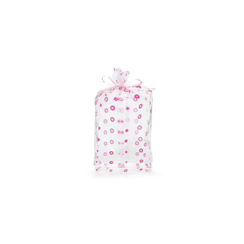 (10) Pink Dots Cello Birthday Party Baby Shower Favor Gift Bag 11x5x2.5 Health & Personal Care
