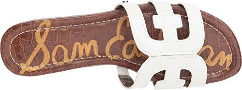 Women's White Bay Edelman Sandal Slide Sam Patent Bright nZ5xx