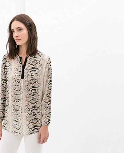 Zara diseño de impresión de piel de serpiente con blusa de en la parte superior y diseño de la camiseta de manga corta: XS-XL: Amazon.es: Ropa y accesorios
