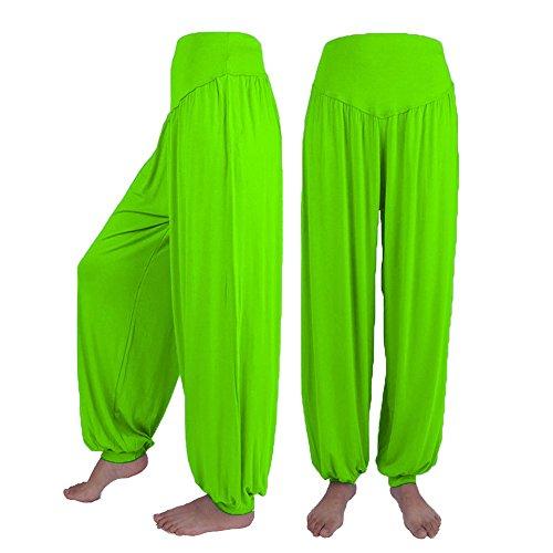 LISTHA Dance Harem Pants Women Loose Casual Modal CottonYoga Sports Soft Trouser Mint Green ()