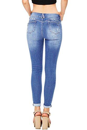 Ybenlover Hellblau Jeans Donna Jeans Ybenlover Hellblau Donna FFSa7f