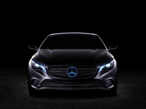 Bearfire Multicolor LED Emblem Logo Grid LED Badge Front Light For Mercedes Benz A/B/C/CLS/E/GLK/GL/R Series (Multicolor, Not transparent grid)